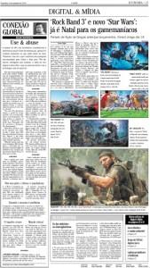 Matéria sobre jogos do fim do ano no jornal 'O Globo'