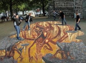 Painel 3D de Diablo III na Alemanha